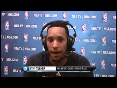 Evan Turner's Discuss His Big Night | 76ers vs Knicks | January 22, 2014 | NBA 2013-14 Season