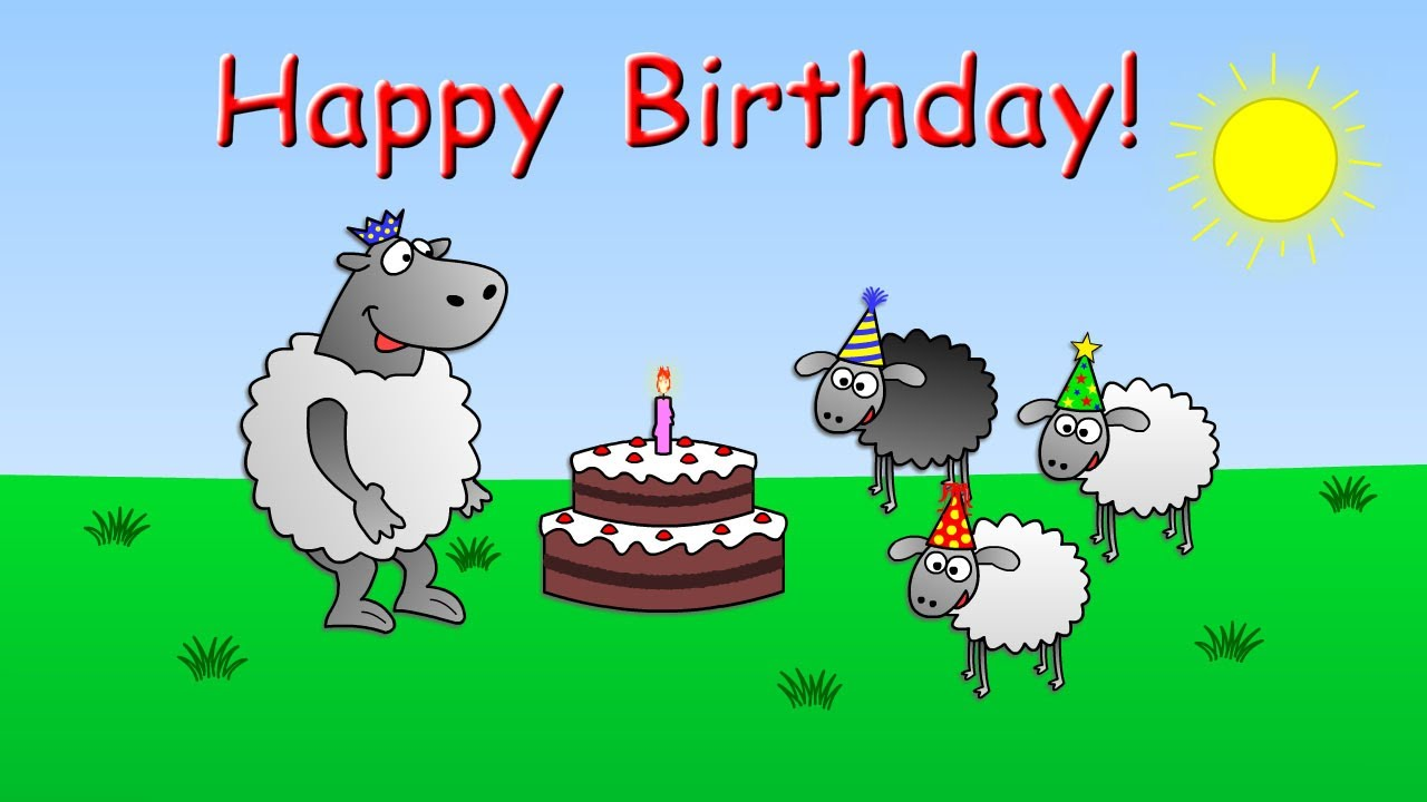 Funny Animated Sheep Cartoon (Happy