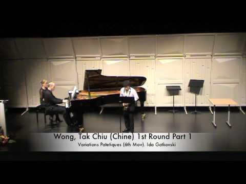 Wong, Tak Chiu (Chine) 1st Round Part 1
