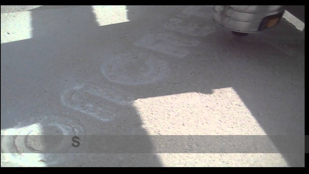 concrete engraving machine