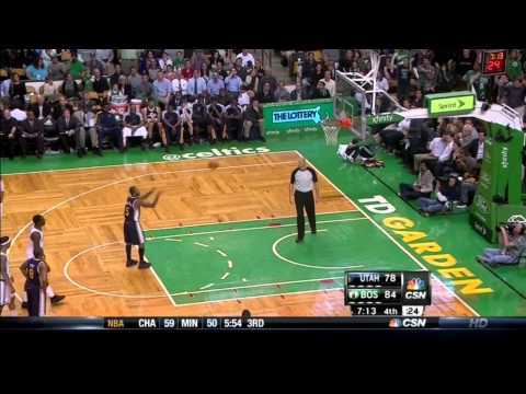 Jeff Green Dunk On Al Jefferson - Jazz @ Celtics 11/14/2012