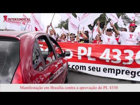 Manifestação em Brasília contra a aprovação do PL 4330