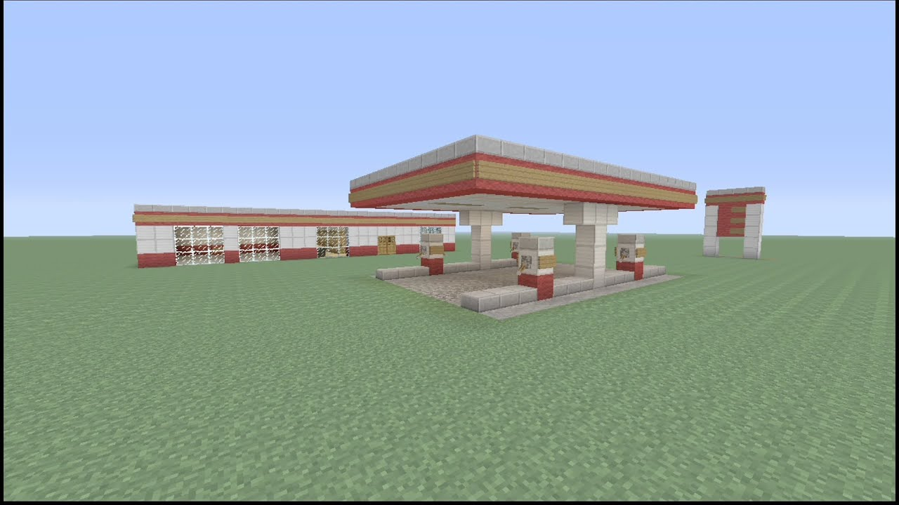 How To Build A Gas Station In Minecraft Part 2 YouTube