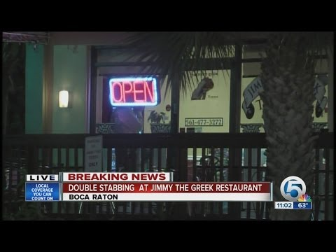 Double stabbing at Jimmy Greek restaurant