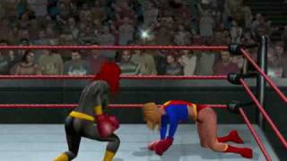 Boxing Supergirl Vs Batgirl (HD)