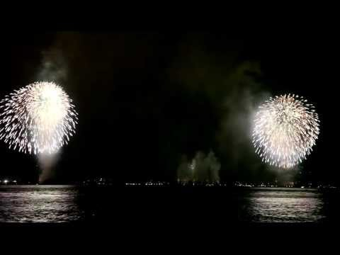 Fireworks at Statue of Liberty, Oct. 28., 2011