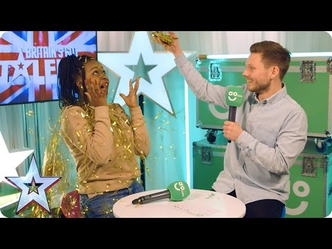 Sarah Ikumu, Jess Robinson & PC Dan chat exclusively in BGT's AO.com Green Room