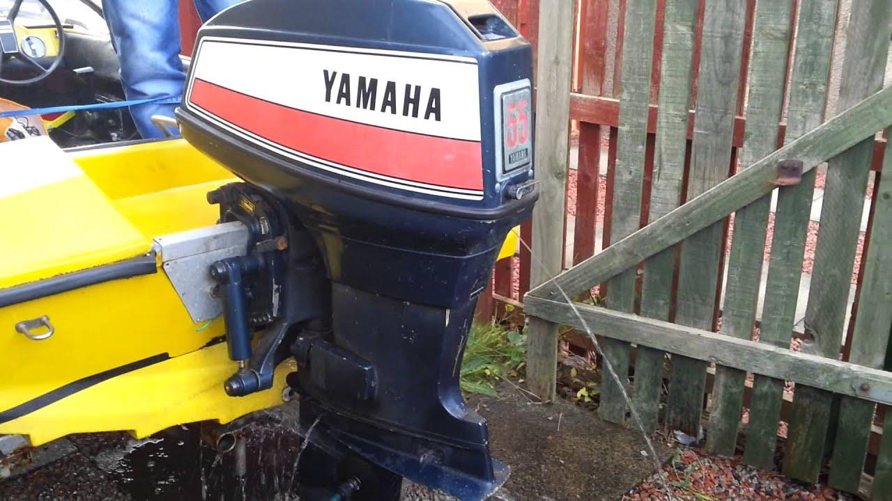 Yamaha 55 Am Outboard Running Youtube