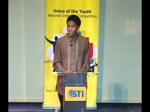 Voice of the Youth National Oratorical Competition - Contestant #8