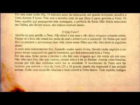 Terceiro Segredo de Fátima escrito por Irmã Lucia REVELADO! [DOCUMENTO ORIGINAL]