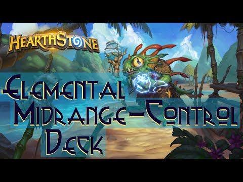 Hearthstone: Elemental Control-Midrange Shaman Deck Gameplay Video