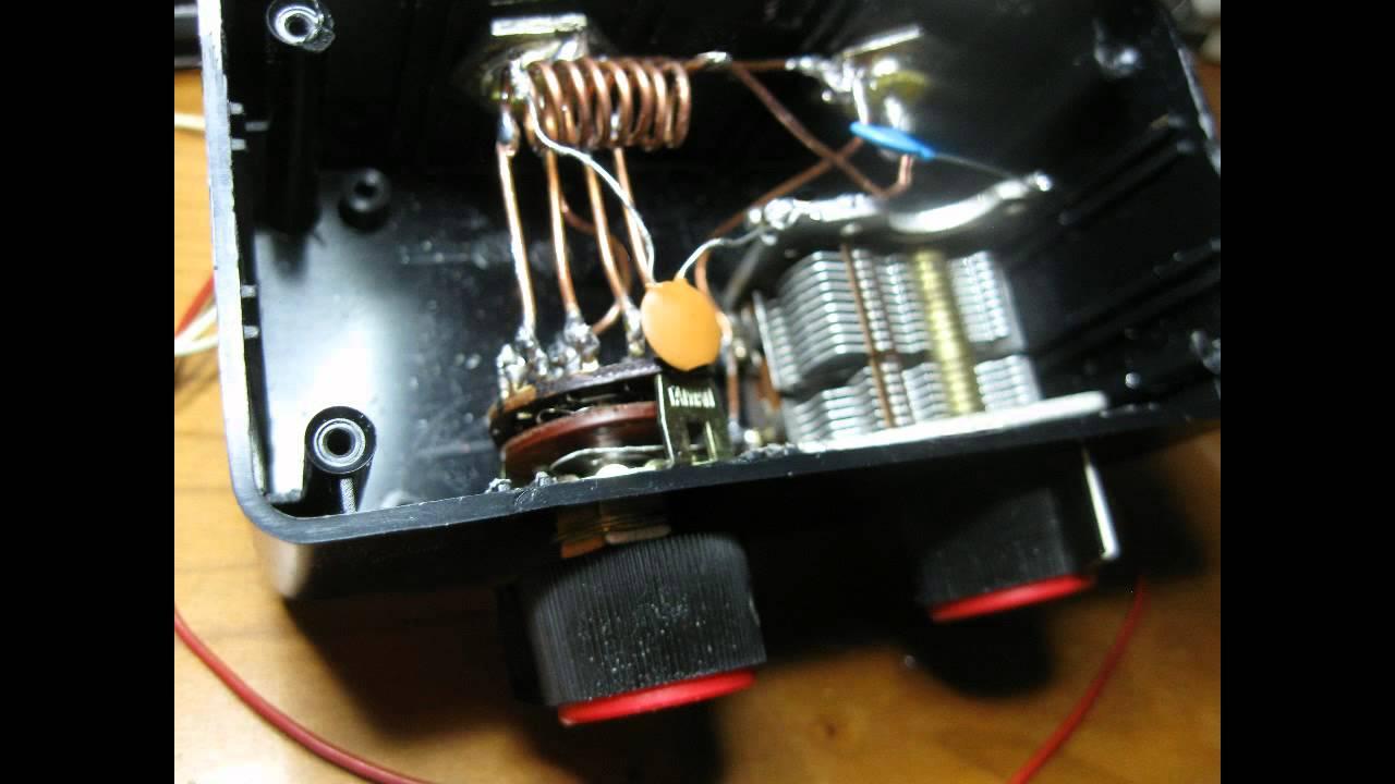 Diy Vhf Antenna Tuner Made From Junk Youtube