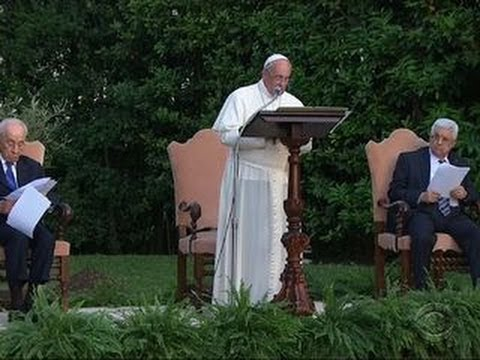 Israeli, Palestinian leaders gather with Pope Francis for peace prayer