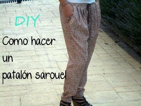 Do It Yourself pantalón sarouel: (Patrón gratis), como hacer un pantalón sarouel.