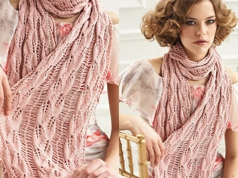 How to Knit a Drop Stitch Scarf - YouTube