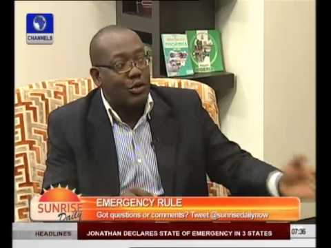 Analyst Says Jonathan Should Have Removed Borno, Yobe, Adamawa Governors - Part 1