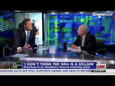 "Actor Richard Dreyfuss Opposes Gun Control Advocate Piers Morgan: NRA Not ""Villians"""