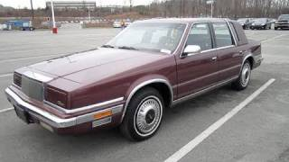 1990 Chrysler New Yorker Fifth Avenue Start Up, Engine, and In Depth Tour