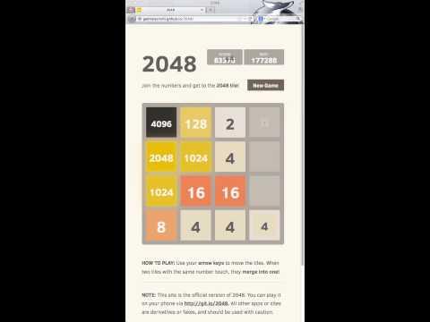 2048 AI (8192 tile achieved)