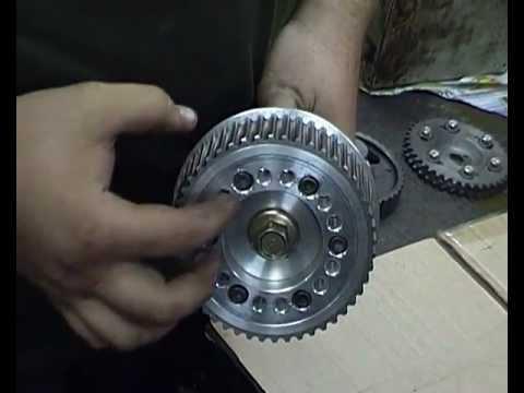 Самодельные разрезные шестерни двигателя 3MZ-FE