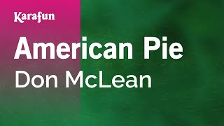 Karaoke American Pie Don McLean *