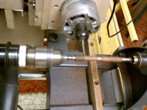 how to build a wood lathe with a drill
