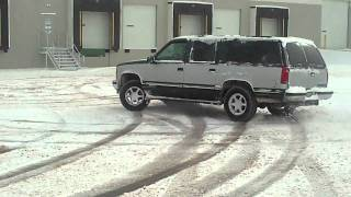 Chevy Suburban In Snow