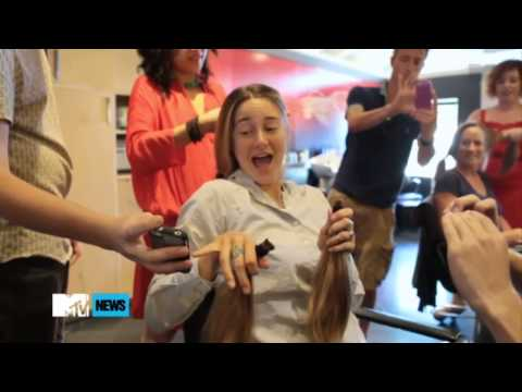 Shailene Woodley corta seu cabelo para 'Hazel Grace'