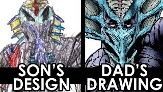 SON'S DESIGN - DAD'S DRAWING 2!