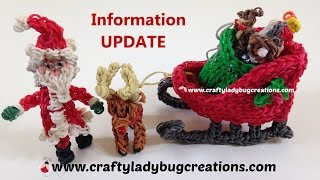 Information Update Rainbow Loom Christmas Sled, Santa