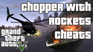 GTA V: ROCKET SHOOTING HELICOPTER CHEAT Buzzard Grand