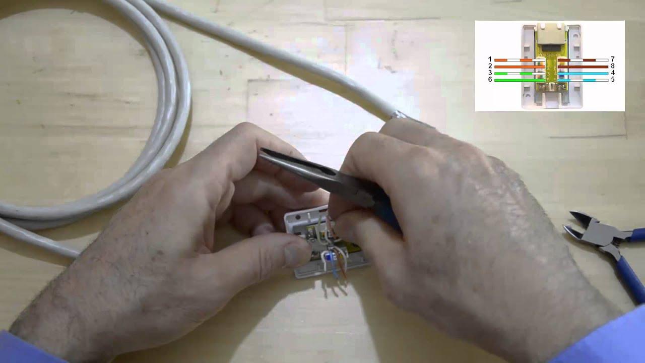 comment monter et tester un boitier mural rj45 pour r seau ethernet youtube. Black Bedroom Furniture Sets. Home Design Ideas