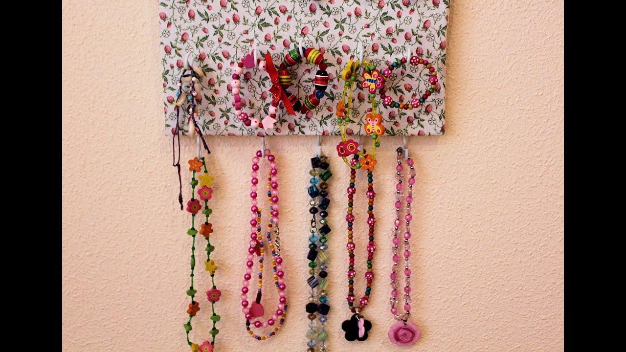 Diy organizador de collares pulseras y anillos youtube - Organizador de carteras ...