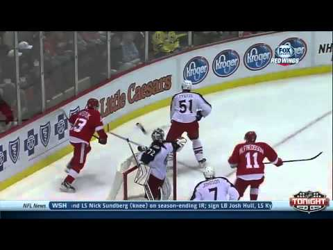Daniel Alfredsson's First Goal With The Detroit Red Wings - October 15th, 2013