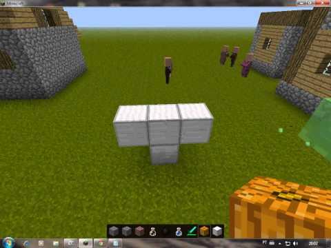 Minecraft 1.2.5 Como Fazer Golem e Boneco De Neve