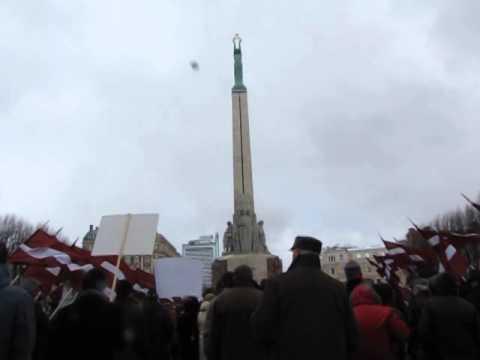 Riga 16. März 2014, Tag der Legionäre, Ende des  Gedenkmarsches