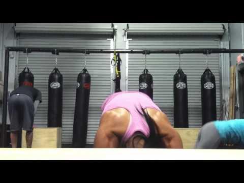Strength/conditioning @A-team training center w/Stacey Alexander IFBB Bikini pro