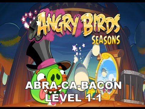 Angry Birds Seasons Abra ca bacon 1-1 3 stars