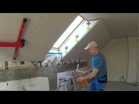Zabudowa okna połaciowego cz.3 - montaż płyt.