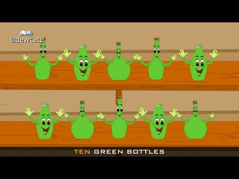 Ten green bottles hanging on the wall nursery rhyme