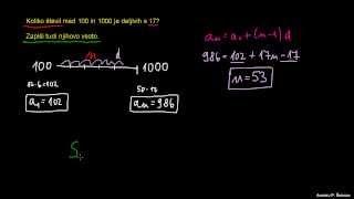 Končna aritmetična vrsta – naloga 5