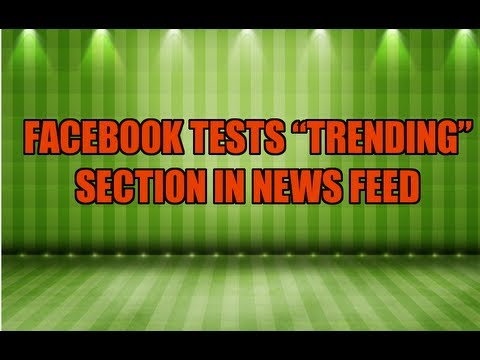 Facebook Trending Section In Testing Mode
