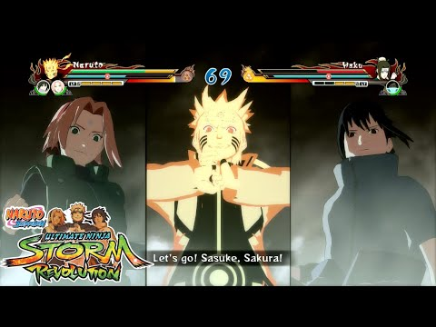 Naruto Shippuden Ultimate Ninja Storm REVOLUTION - Team Ultimate Jutsu - Revived Team 7 Gameplay!