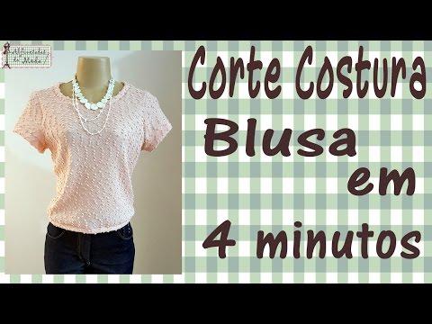 Para Mulheres - Curso de Corte e Costura – Passo a Passo – Blusa em apenas 4 minutos!
