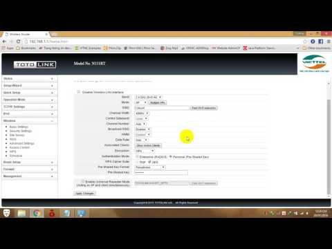 Hướng dẫn đối mật khẩu wifi TP-Link, Totolink và Tenda
