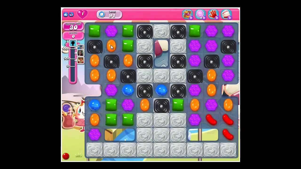 candy crush saga level 91 cheat walkthrough candy crush saga candy