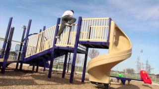 Freerunning At The Park (Parkour)