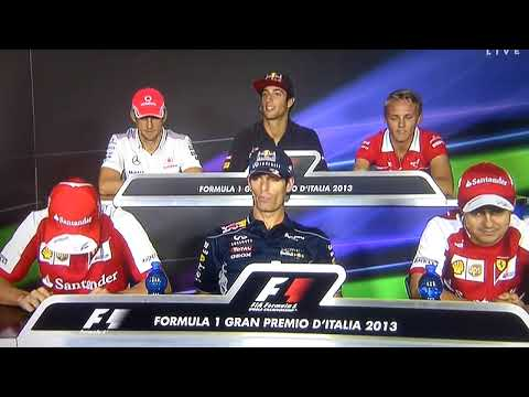 Mark Webber is asked if Ricciardo will need a knife to deal with Vettel?!