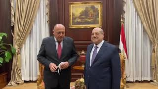 وزير الخارجية يلتقي المستشار عبد الوهاب