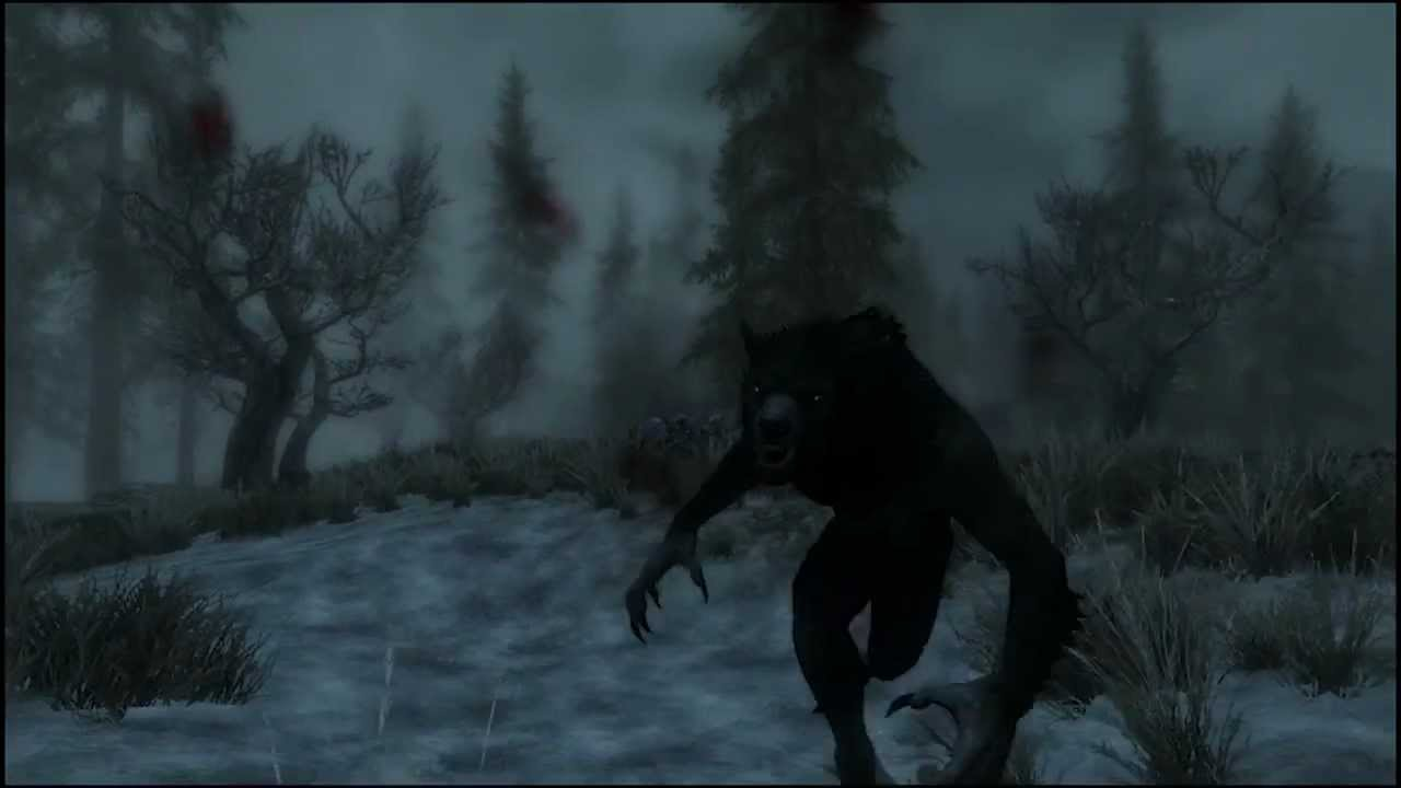 Skyrim mods werewolves of skyrim youtube
